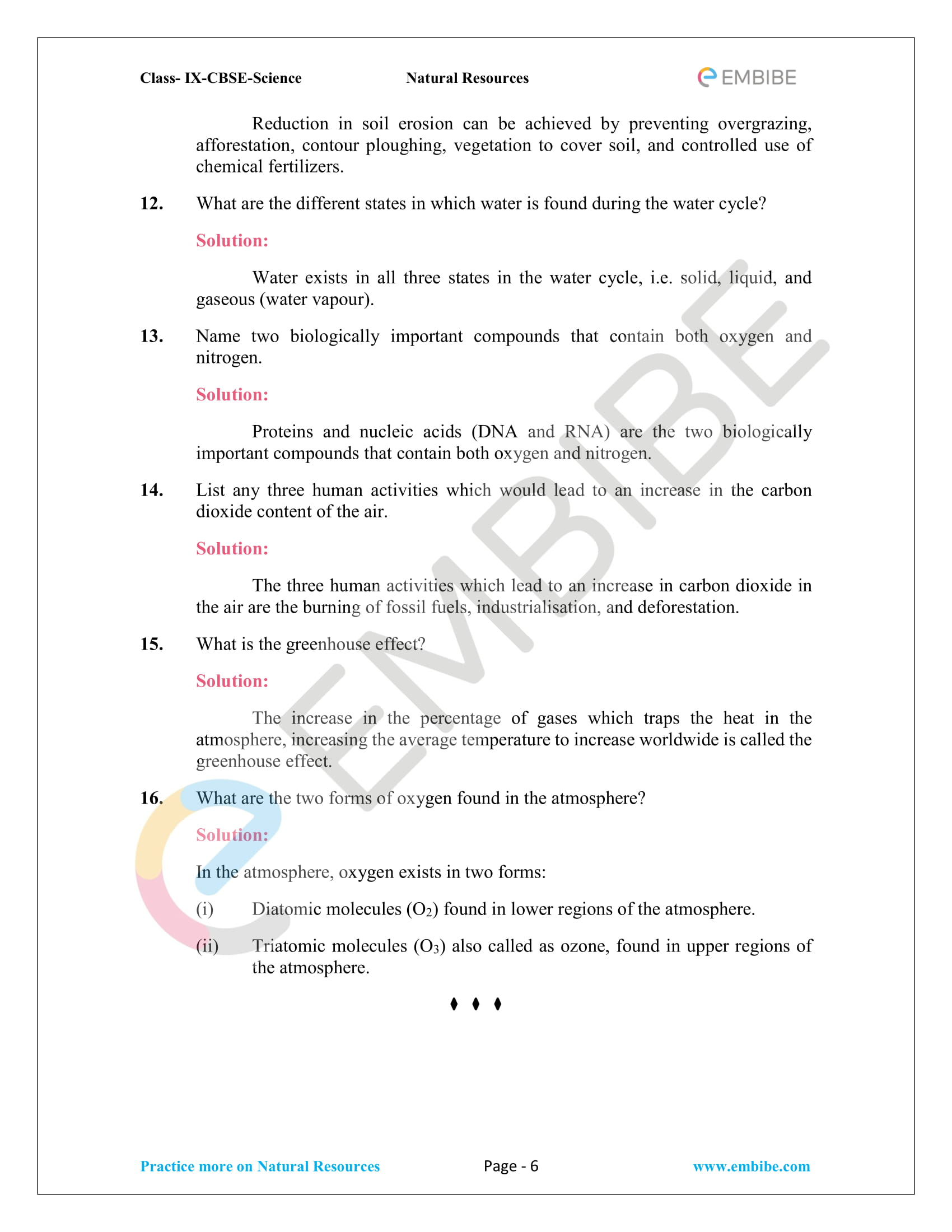 CBSE NCERT Solutions for Class 9 Science Chapter 14-6