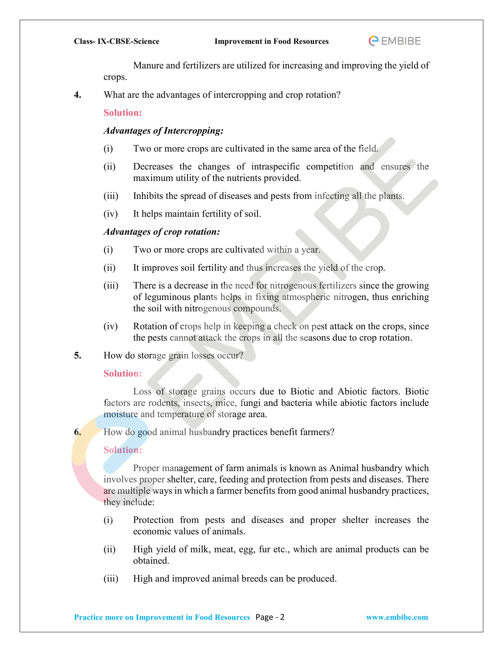 CBSE NCERT Solutions for Class 9 Science Chapter 15-2