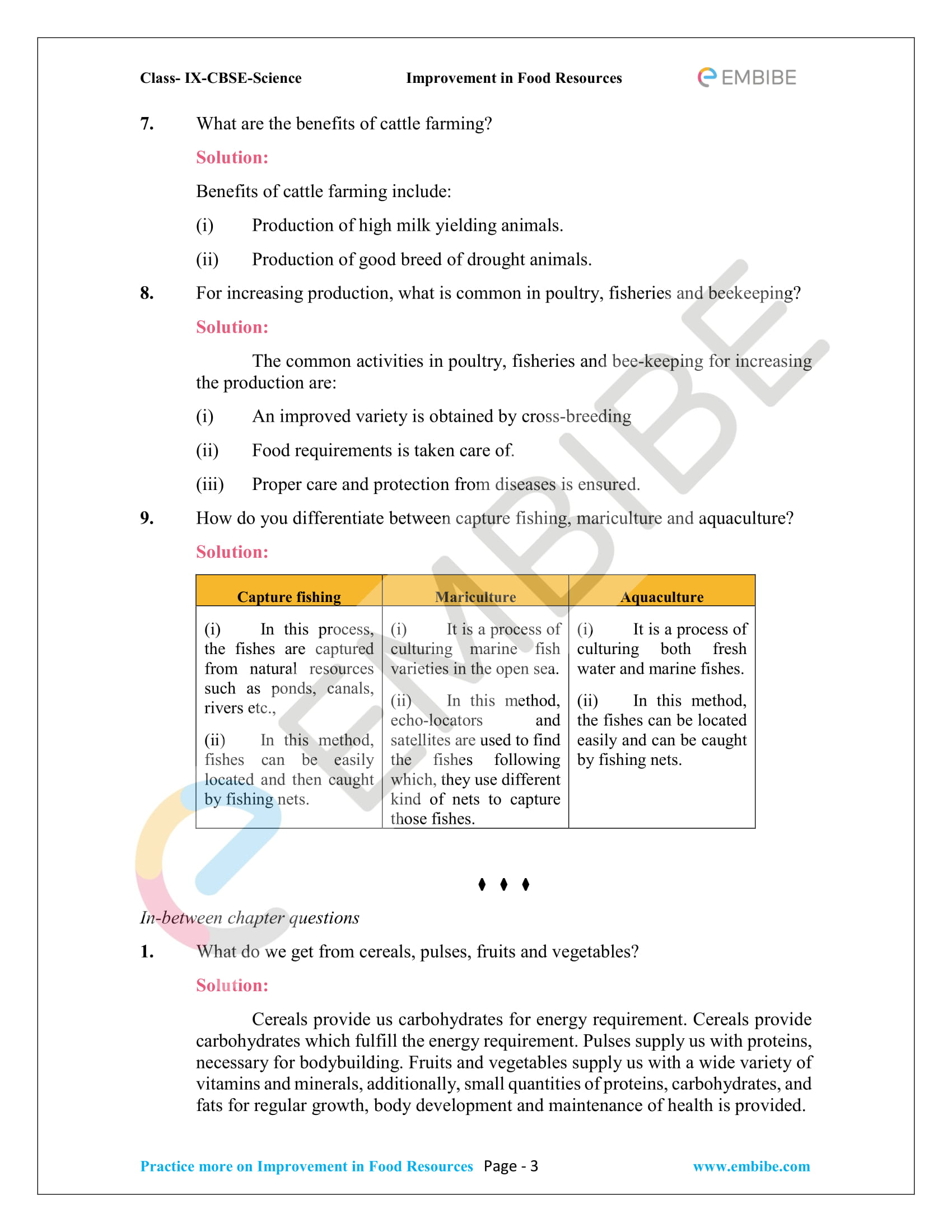 CBSE NCERT Solutions for Class 9 Science Chapter 15-3