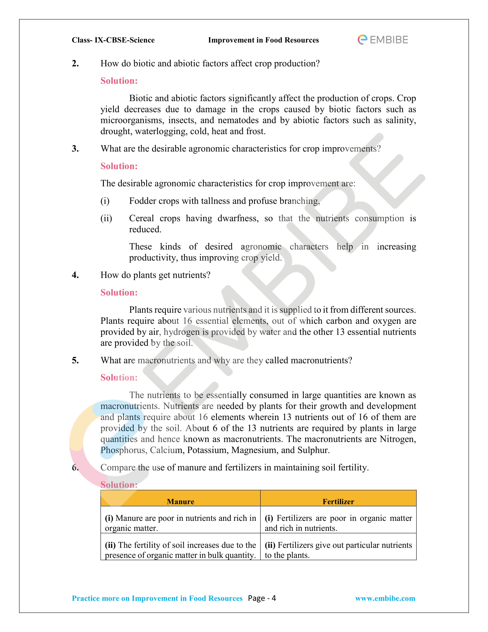 CBSE NCERT Solutions for Class 9 Science Chapter 15-4