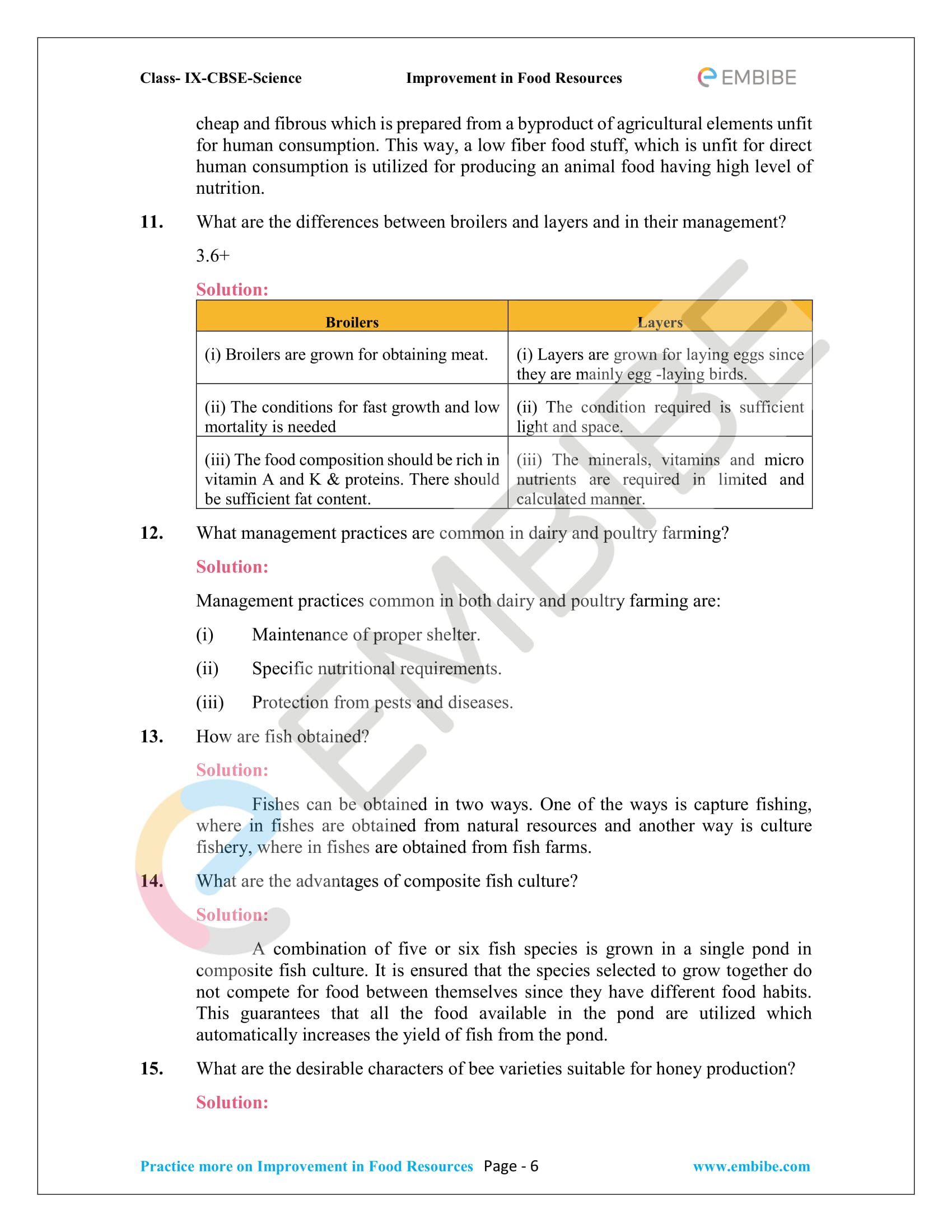 CBSE NCERT Solutions for Class 9 Science Chapter 15-6