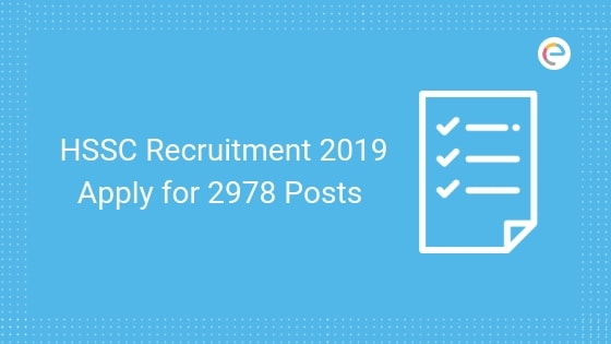 HSSC Recruitment 2019| Apply Online For Patwari, Gramin