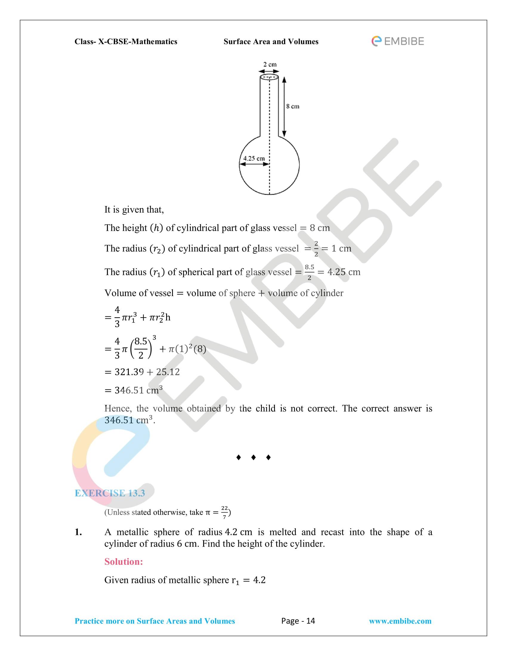 CBSE NCERT Solutions For Class 10 Maths Chapter 13