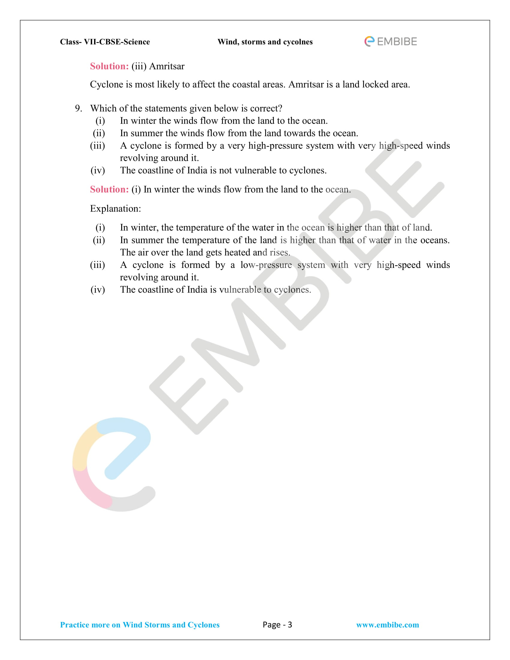 BSE NCERT Solutions For Class 7 Science Chapter 8 - Winds, storms, and cyclones - 3