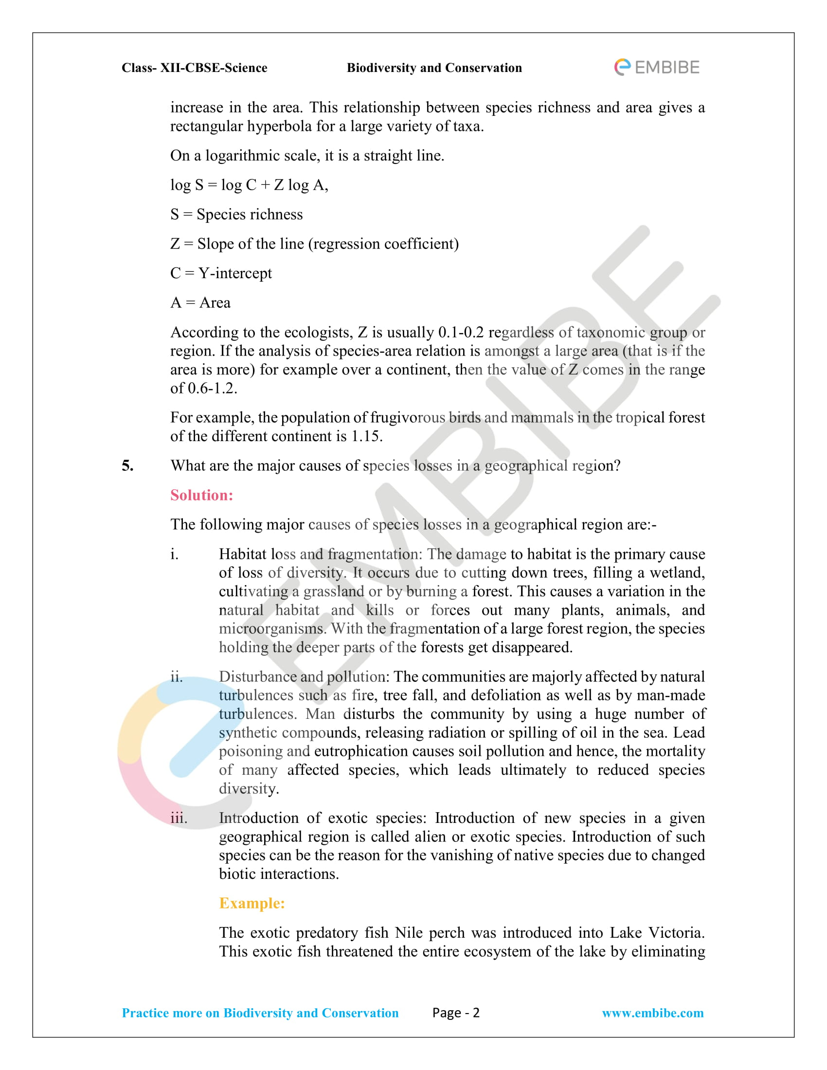 CBSE NCERT Solutions for Class 12 Biology Chapter 15 PDF