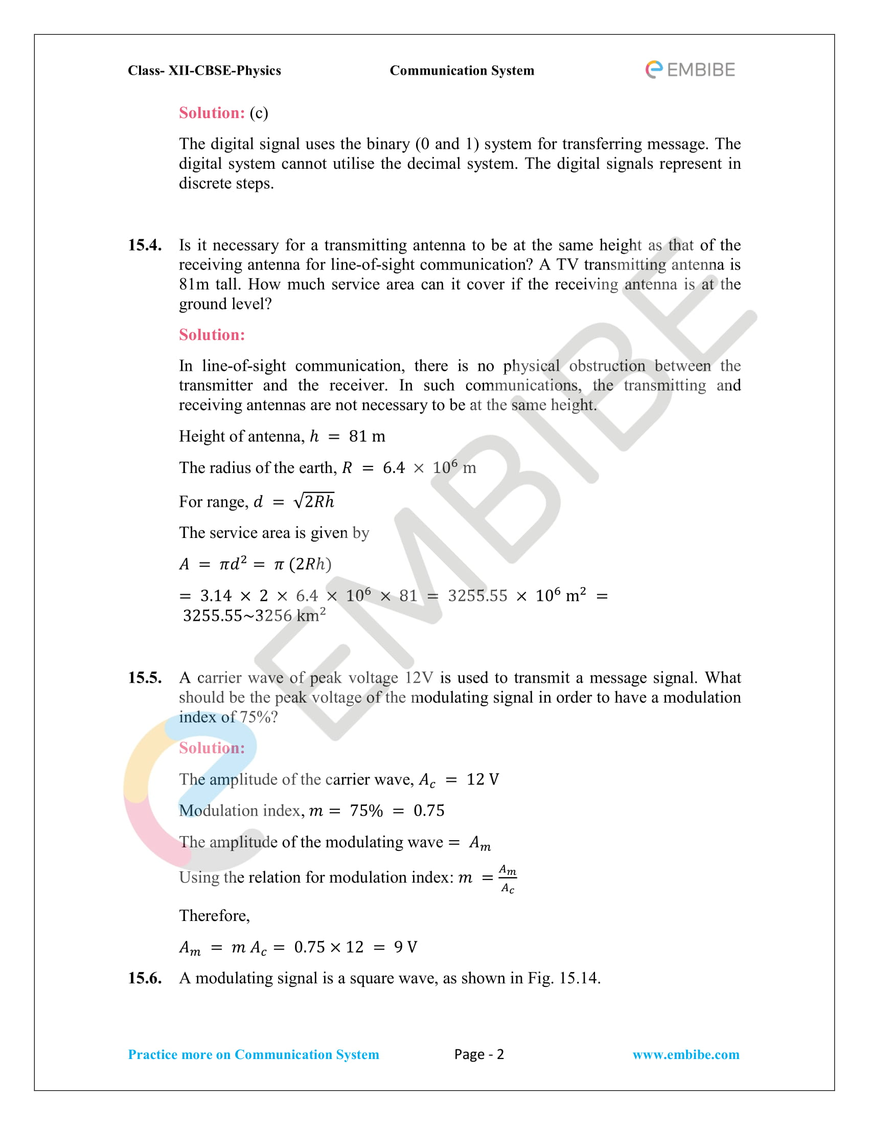 NCERT Solutions For Class 12 Physics Chapter 15 PDF