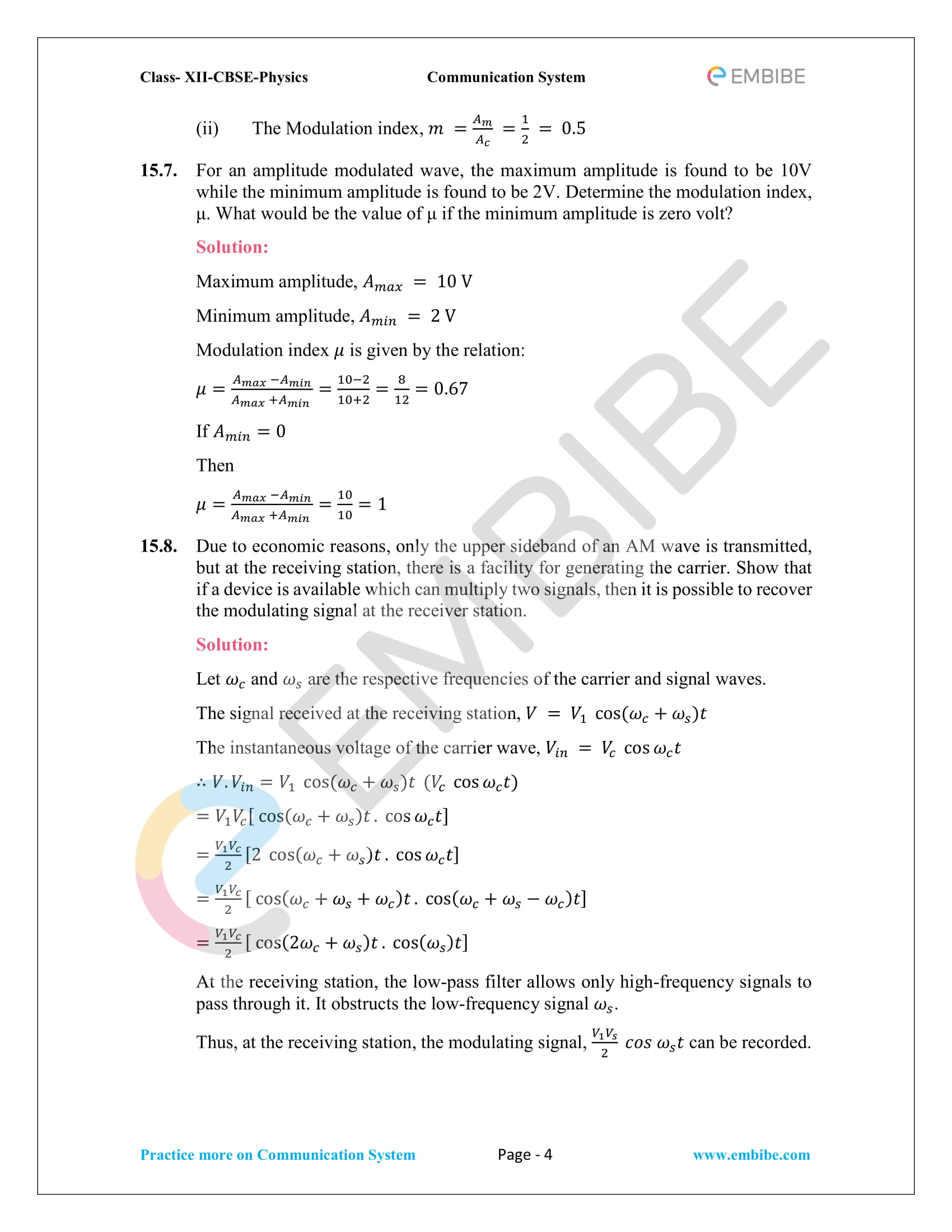NCERT Solutions for Class 12 Physics Chapter 15 PDF Download