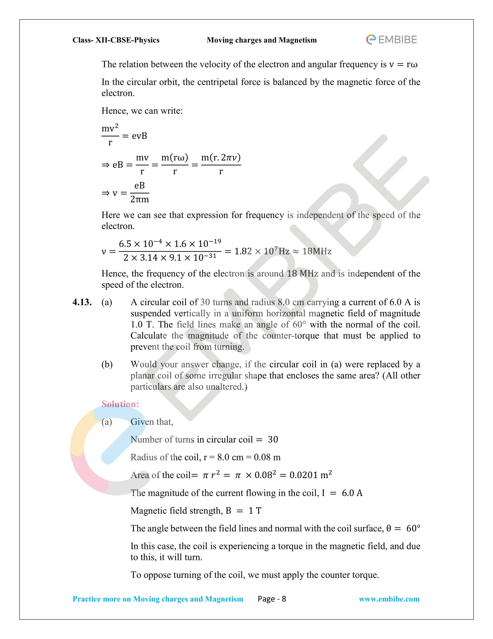 NCERT Solutions For Class 12 Physics Chapter 4