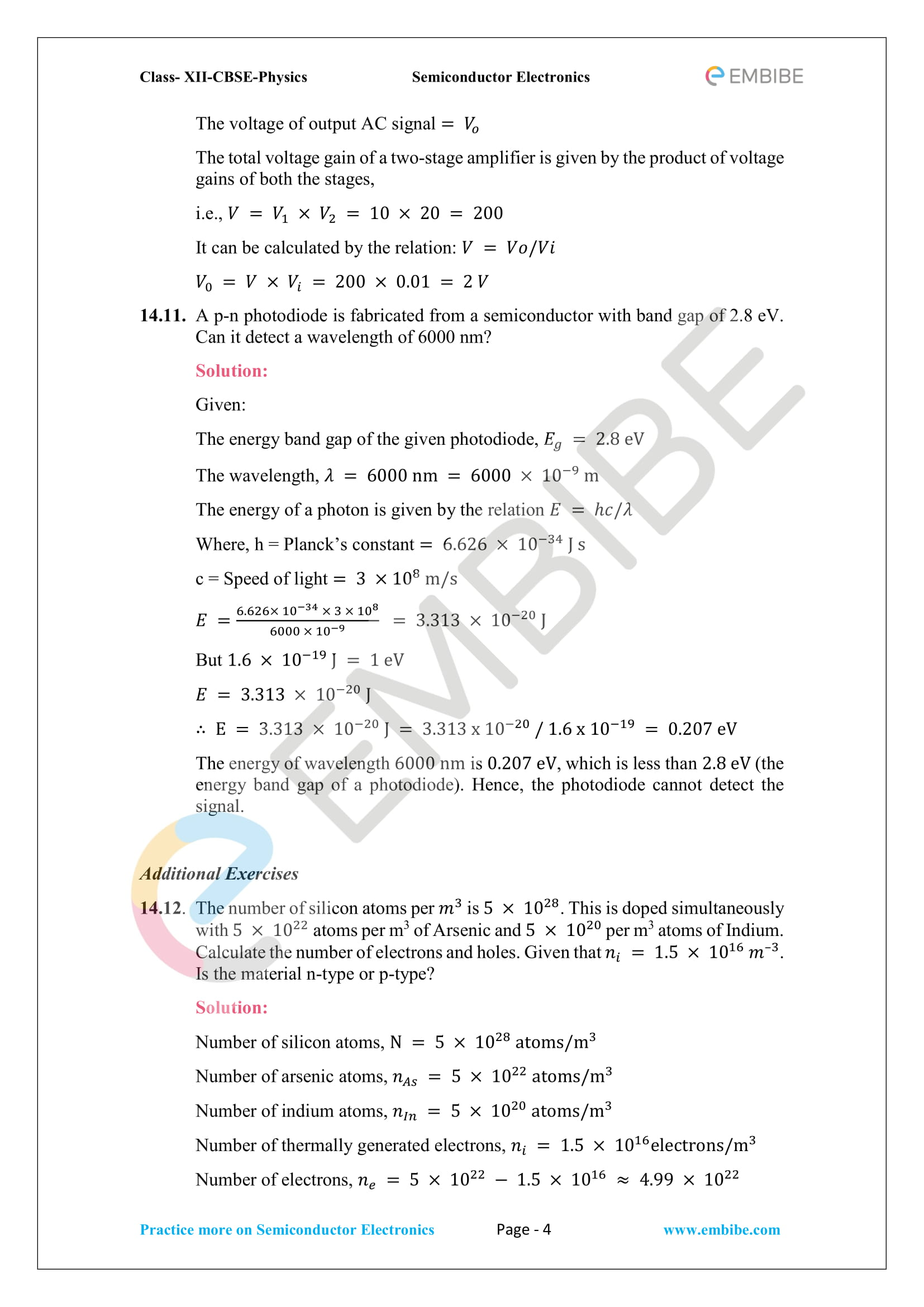 CBSE NCERT Solutions for Class 12 Physics Chapter 14 PDF Download