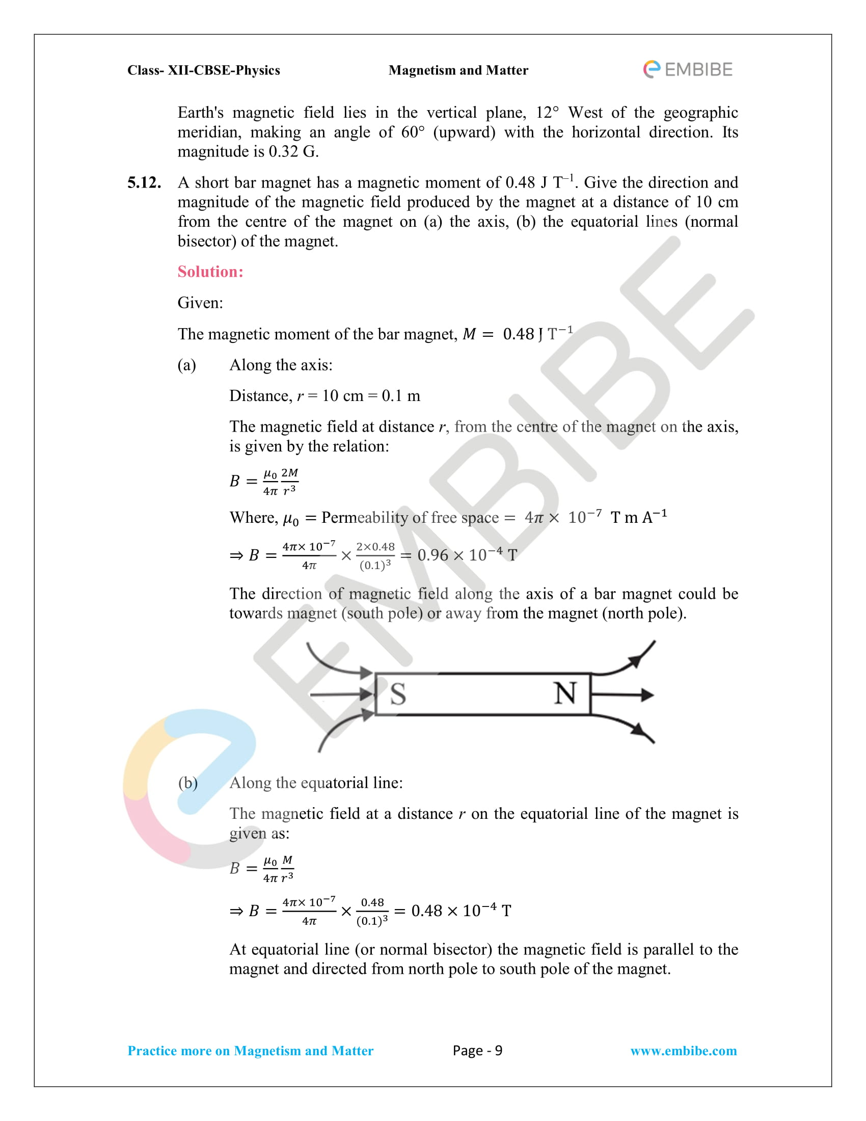 NCERT Solutions For Class 12 Physics Chapter 5