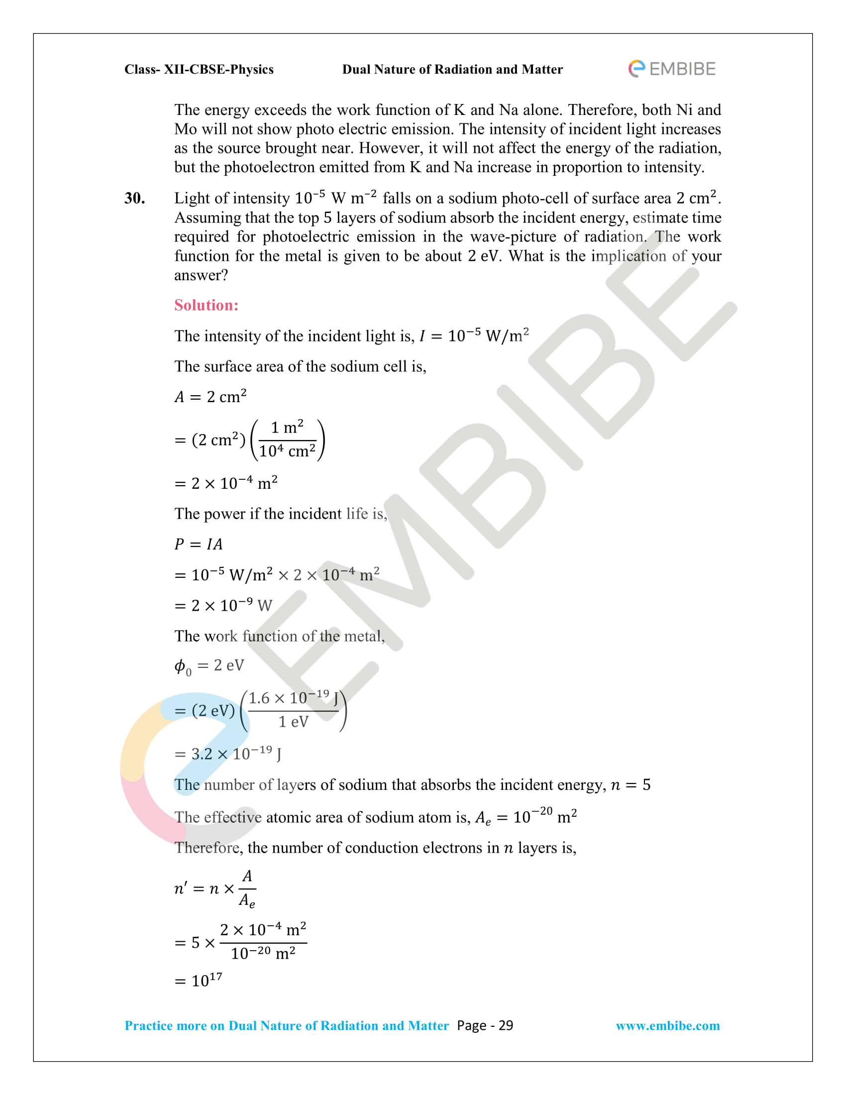 NCERT_Grade 12_Physics_Ch_11_Dual Nature of Radiation and Matter-29