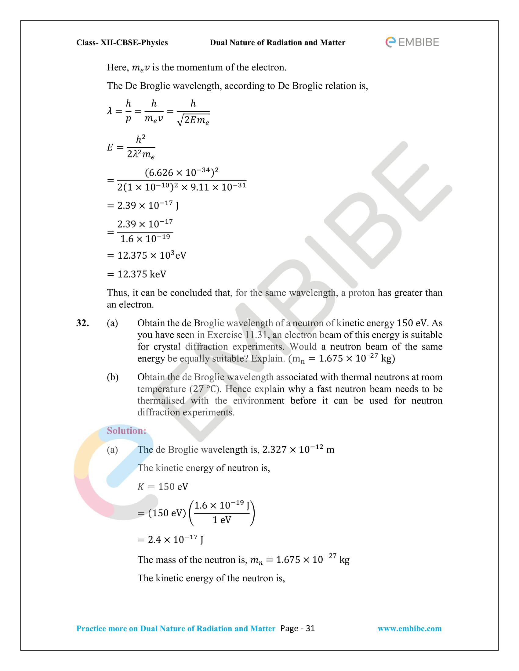 NCERT_Grade 12_Physics_Ch_11_Dual Nature of Radiation and Matter-31