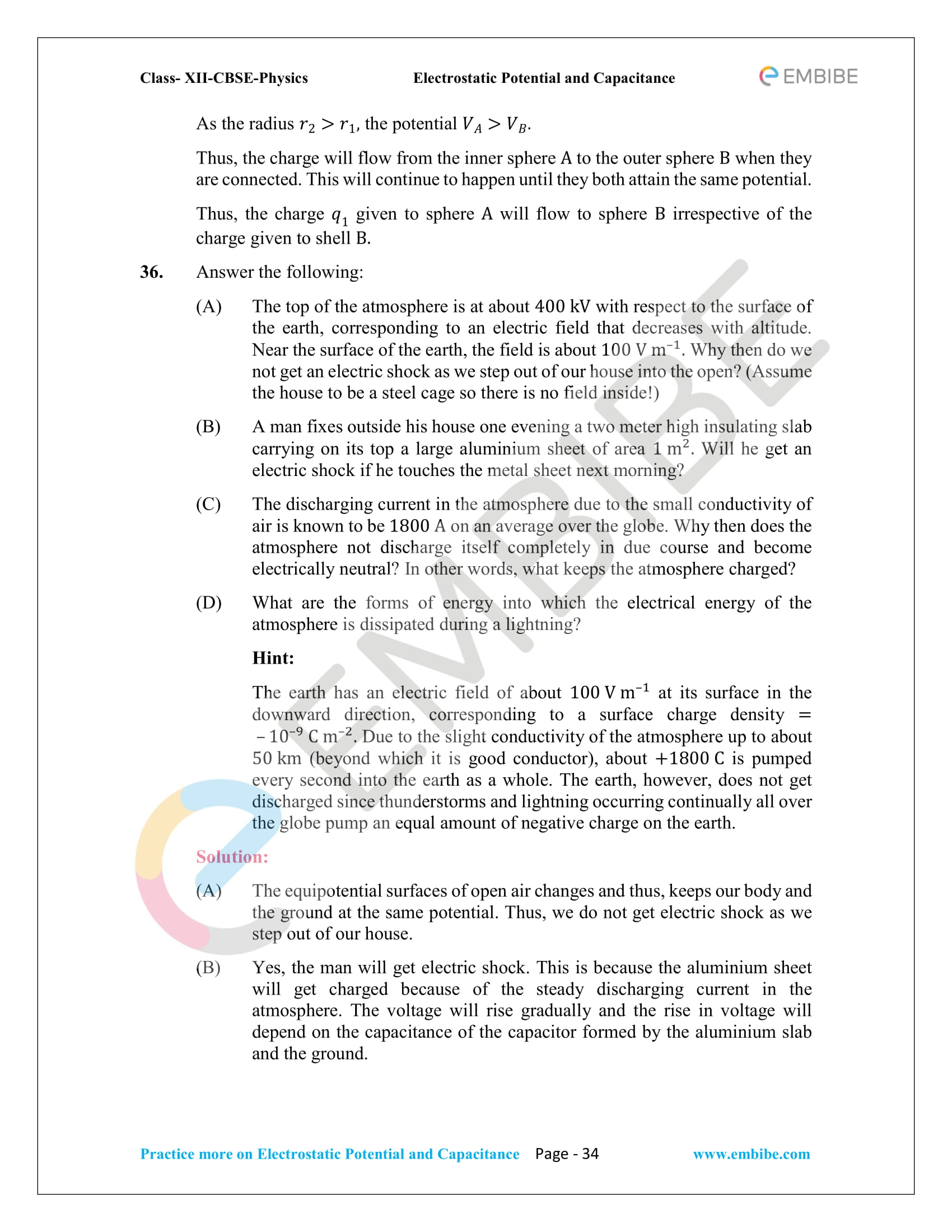 NCERT Solutions for Class 12 Physics Chapter 2