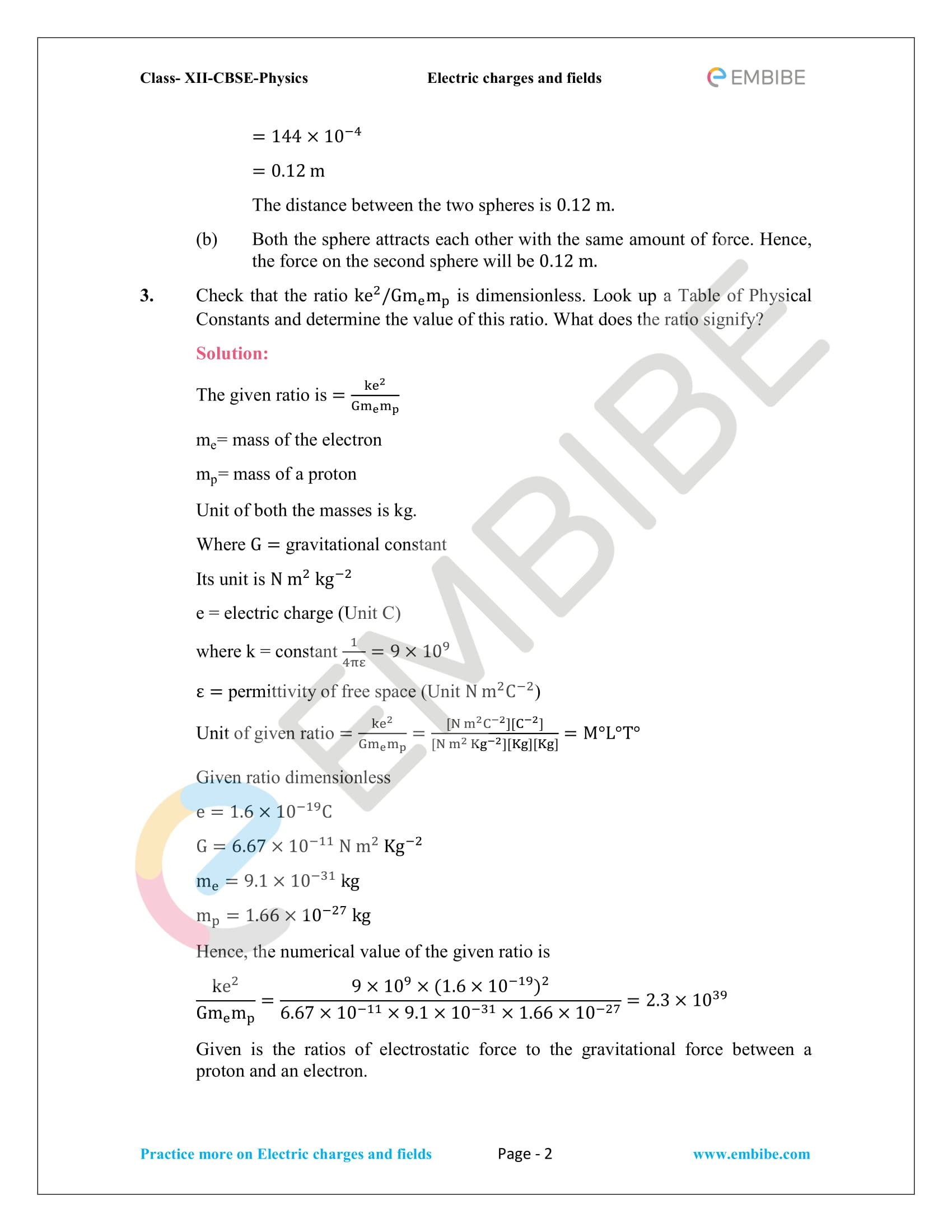 NCERT Solutions for Class 12 Physics Chapter 1 Electric Charges and Field embibe-02