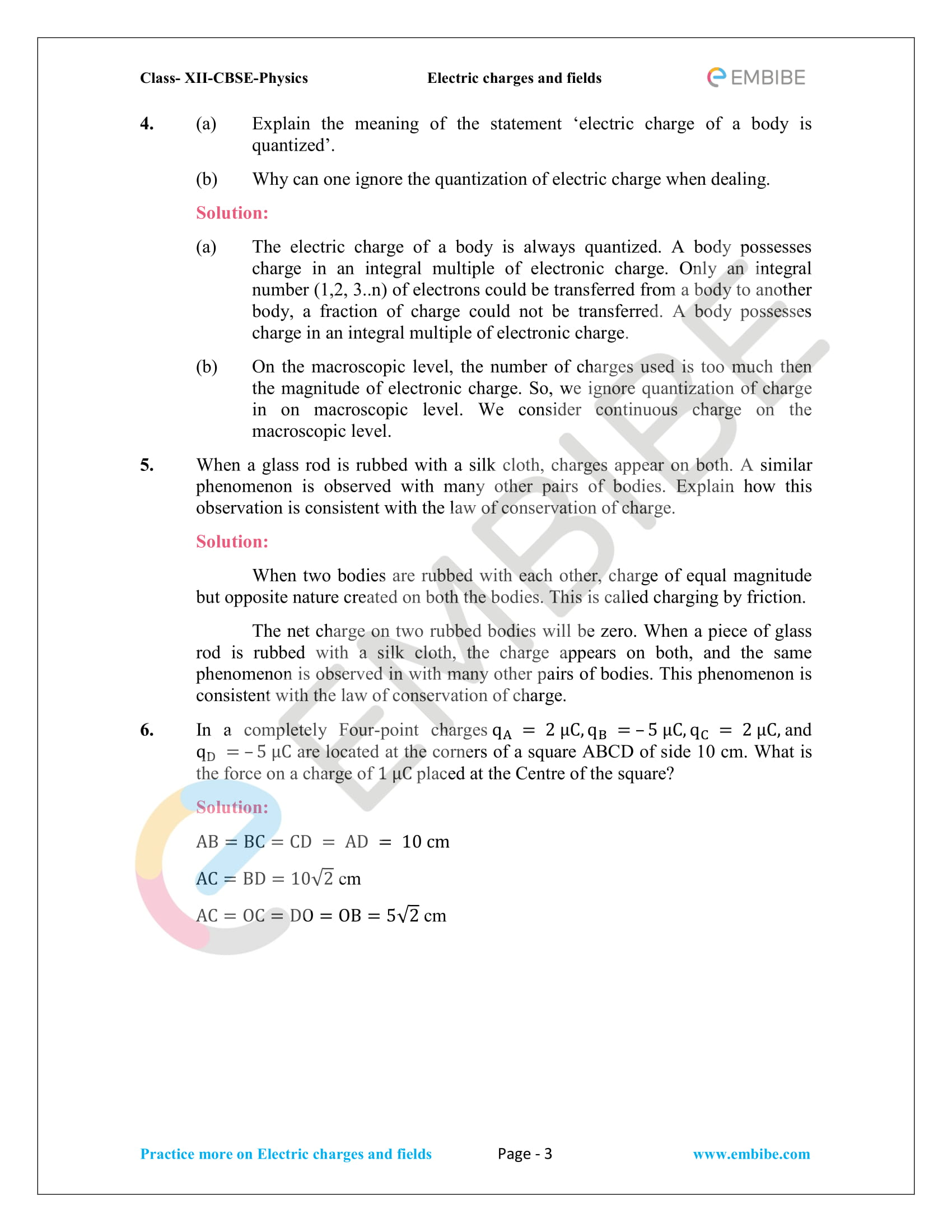 NCERT Solutions for Class 12 Physics Chapter 1 Electric Charges and Field embibe-03