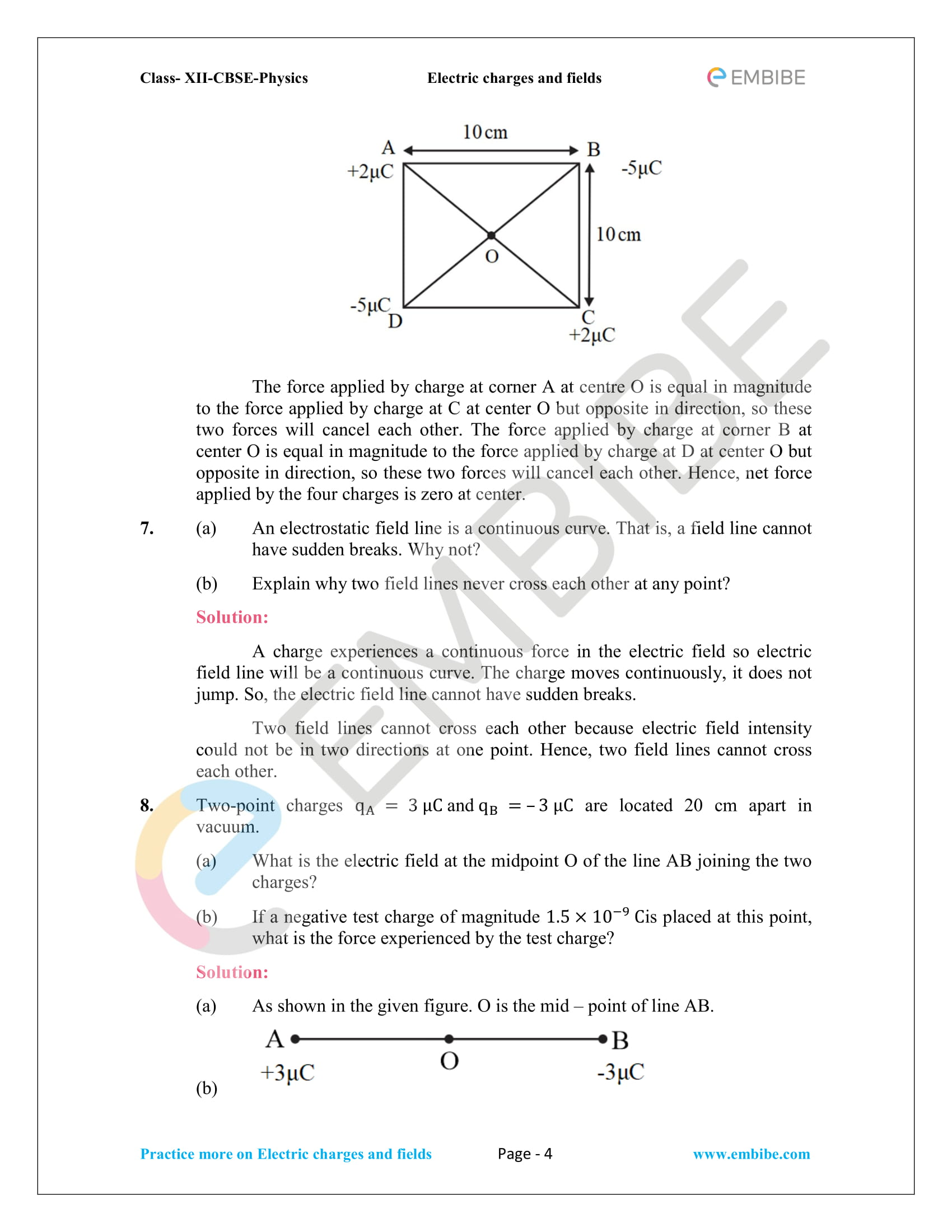 NCERT Solutions for Class 12 Physics Chapter 1 Electric Charges and Field embibe-04
