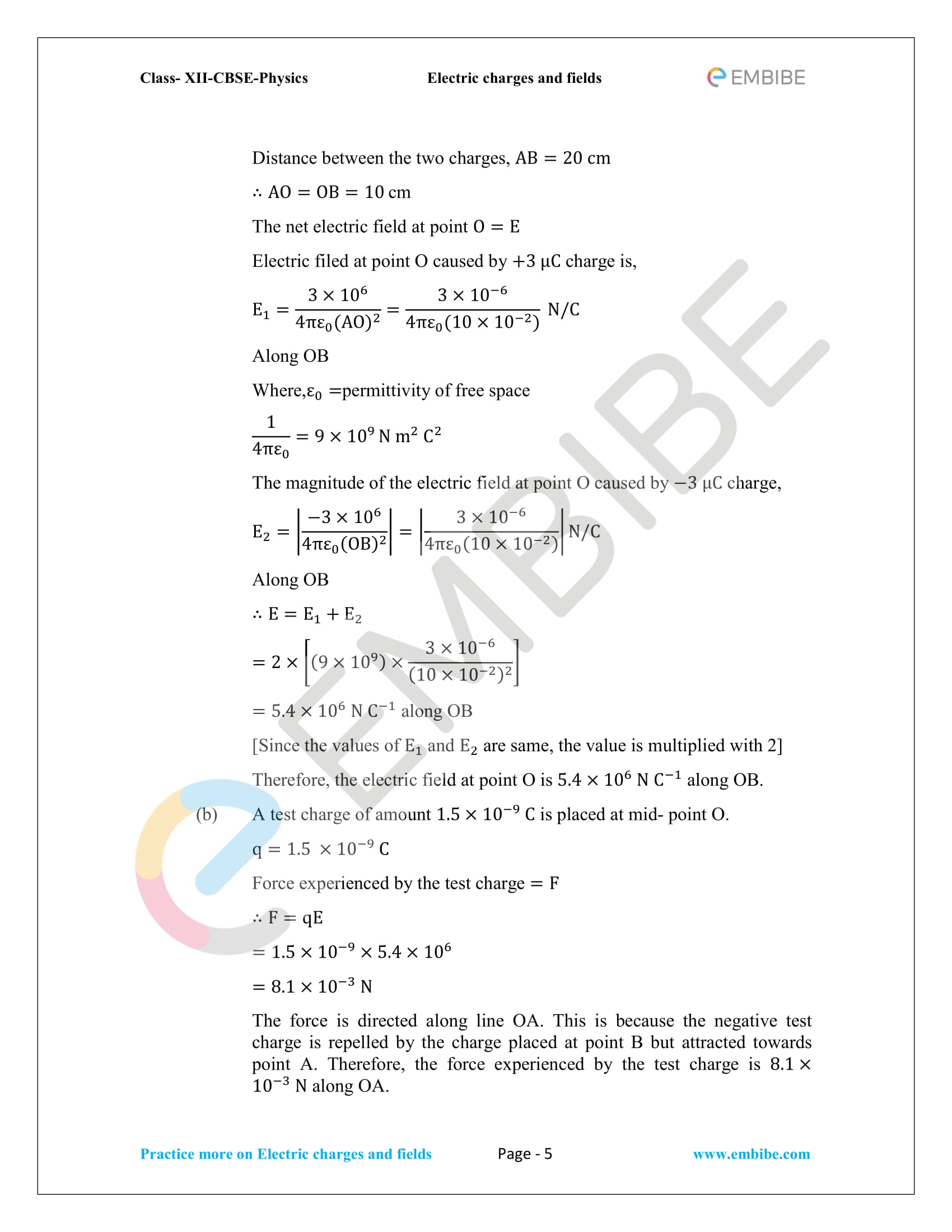 NCERT Solutions for Class 12 Physics Chapter 1 Electric Charges and Field embibe-05