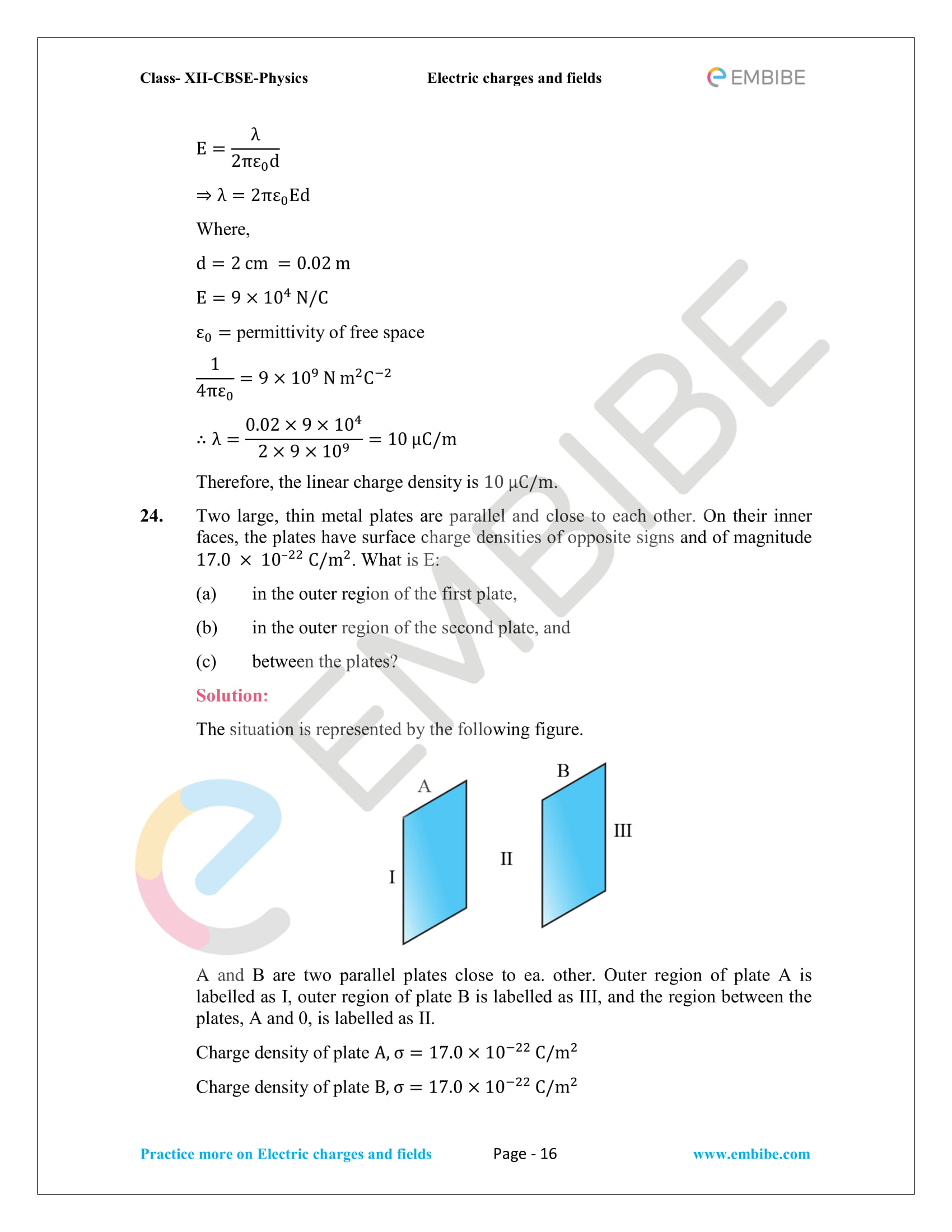 NCERT Solutions for Class 12 Physics Chapter 1 Electric Charges and Field embibe-16
