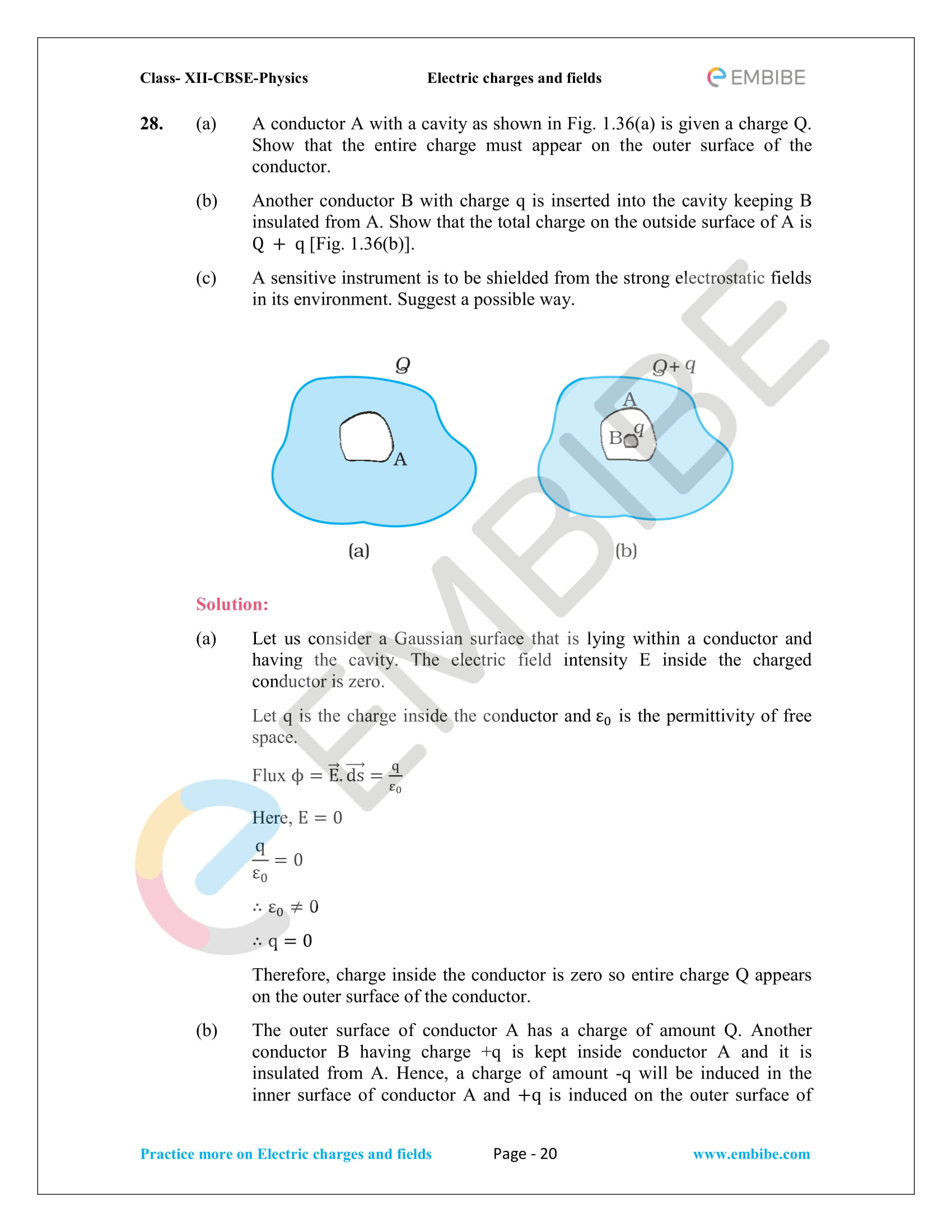 NCERT Solutions for Class 12 Physics Chapter 1 Electric Charges and Field embibe-20