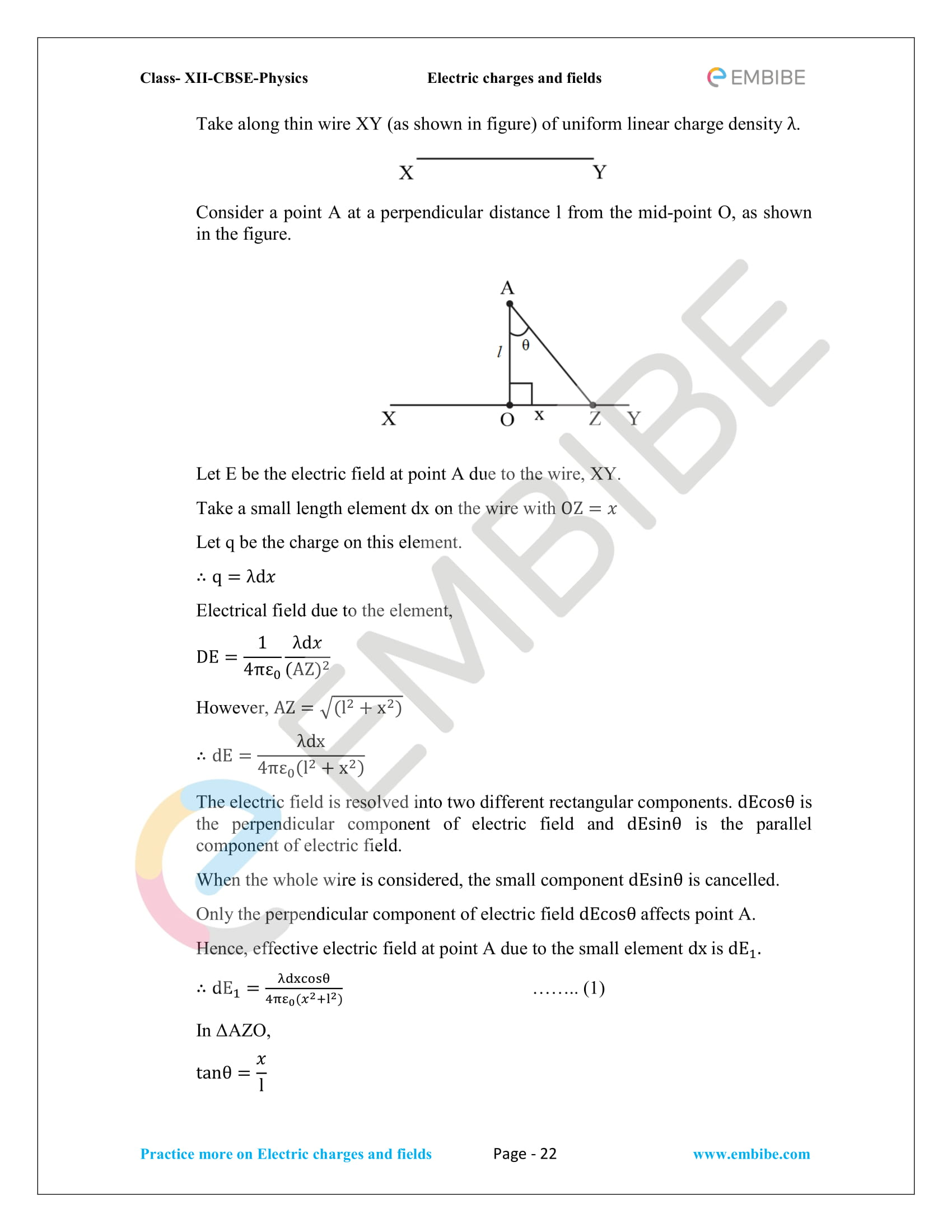 NCERT Solutions for Class 12 Physics Chapter 1 Electric Charges and Field embibe-22