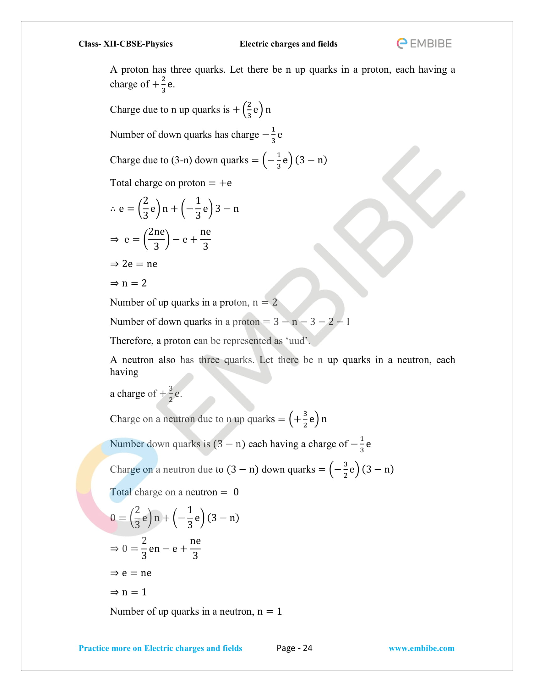 NCERT Solutions for Class 12 Physics Chapter 1 Electric Charges and Field embibe-24