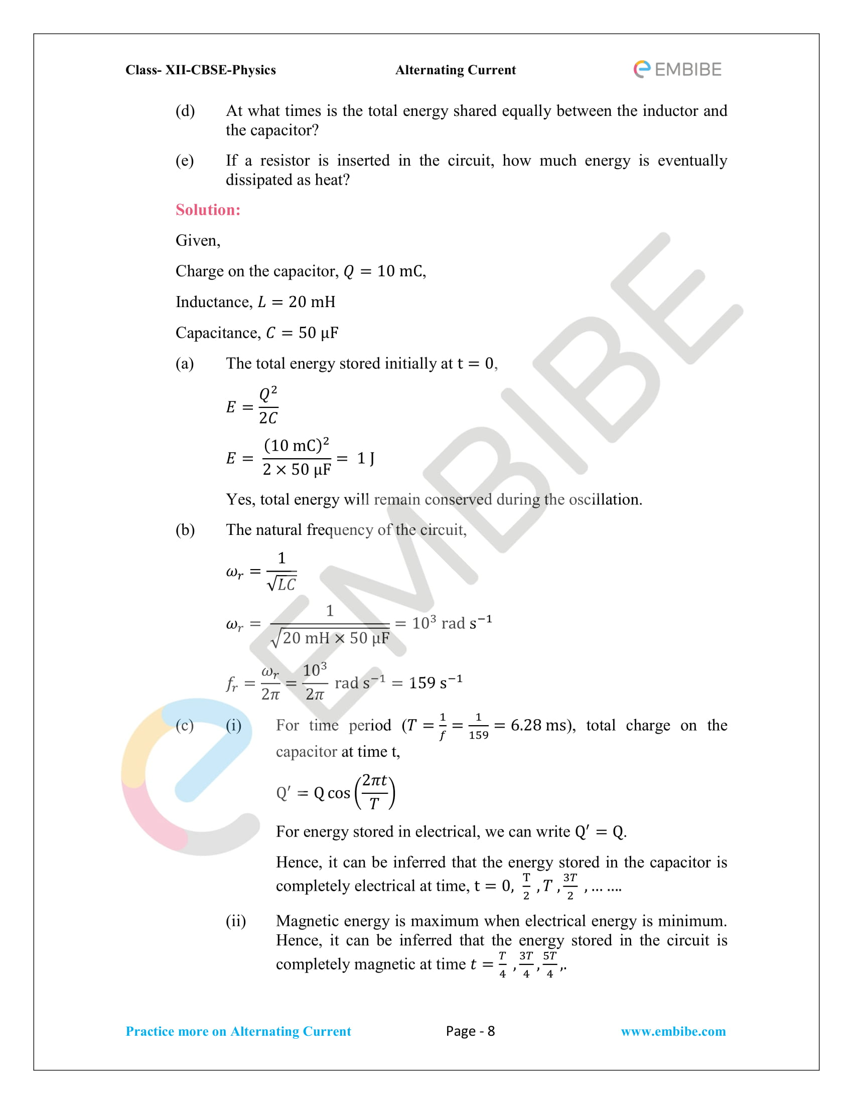 NCERT Solutions for Class 12 Chapter 7 Alternating Current-08