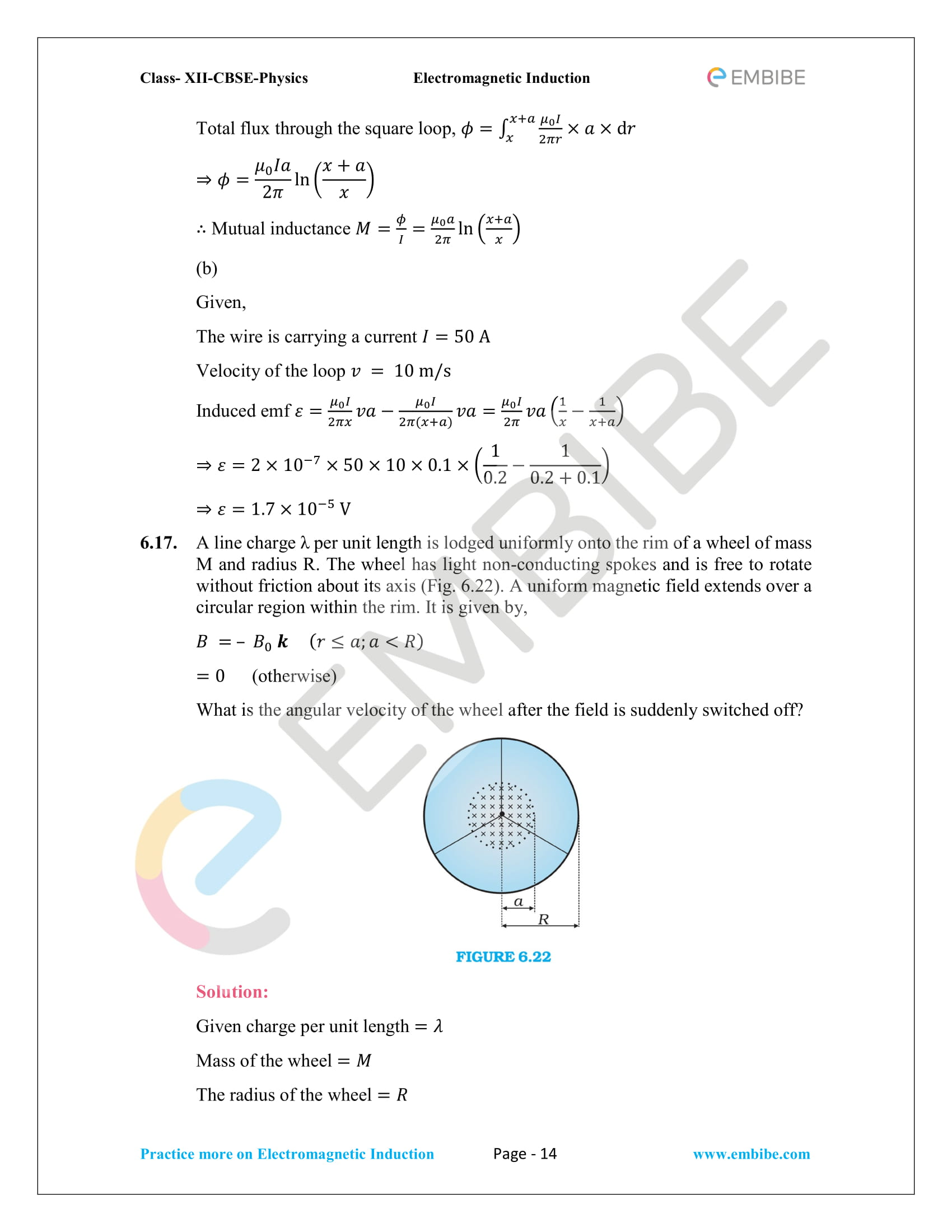 CBSE NCERT Solutions Class 12 Physics Chapter 6 PDF - Electromagnetic Induction - 14