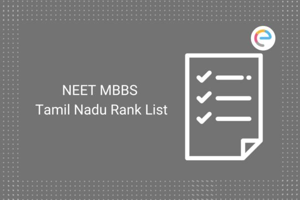 NEET MBBS Tamil Nadu Rank List