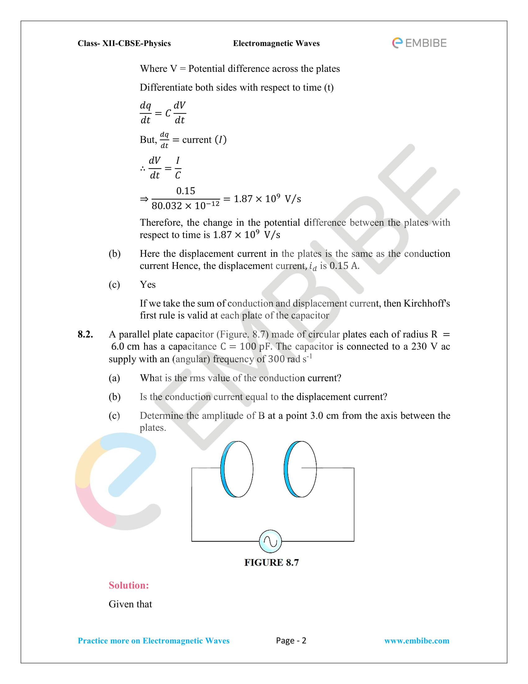 NCERT Solutions for Class 12 Physics Chapter 8 Electromagnetic Waves-02