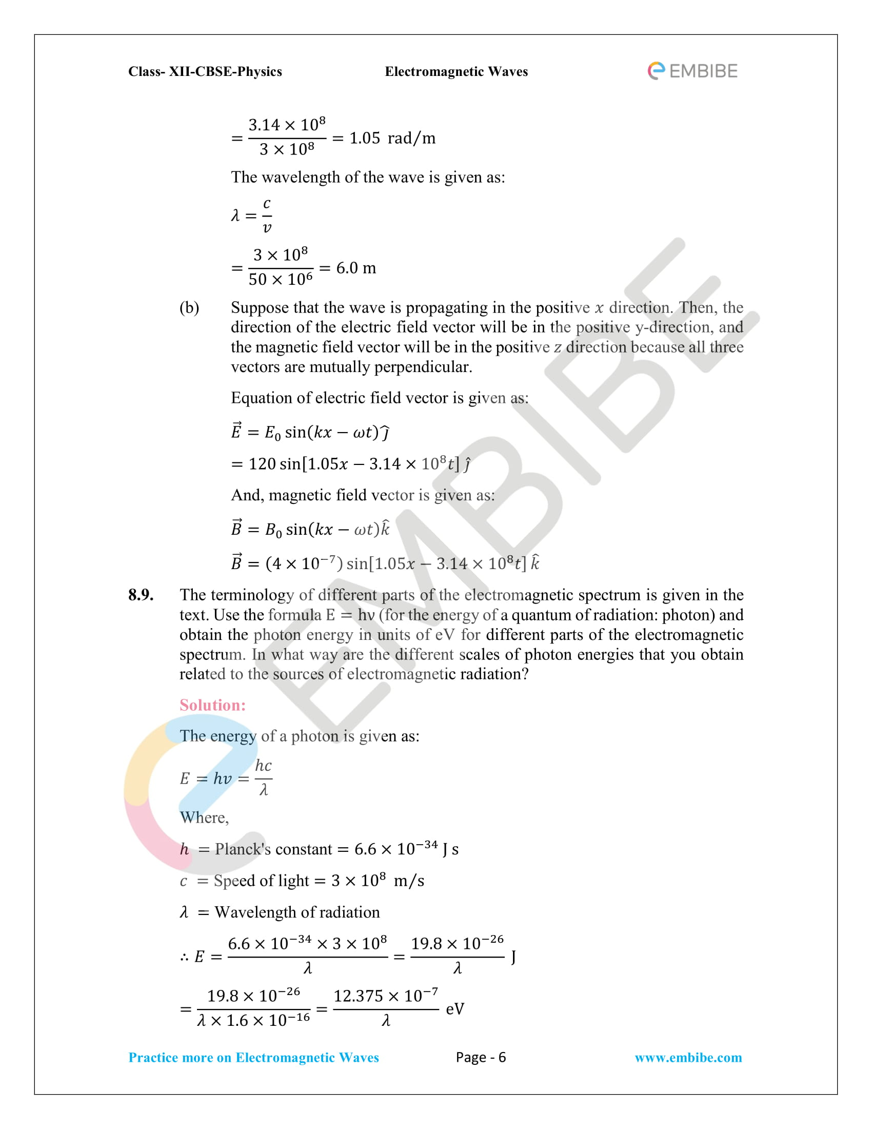 NCERT Solutions for Class 12 Physics Chapter 8 Electromagnetic Waves-06
