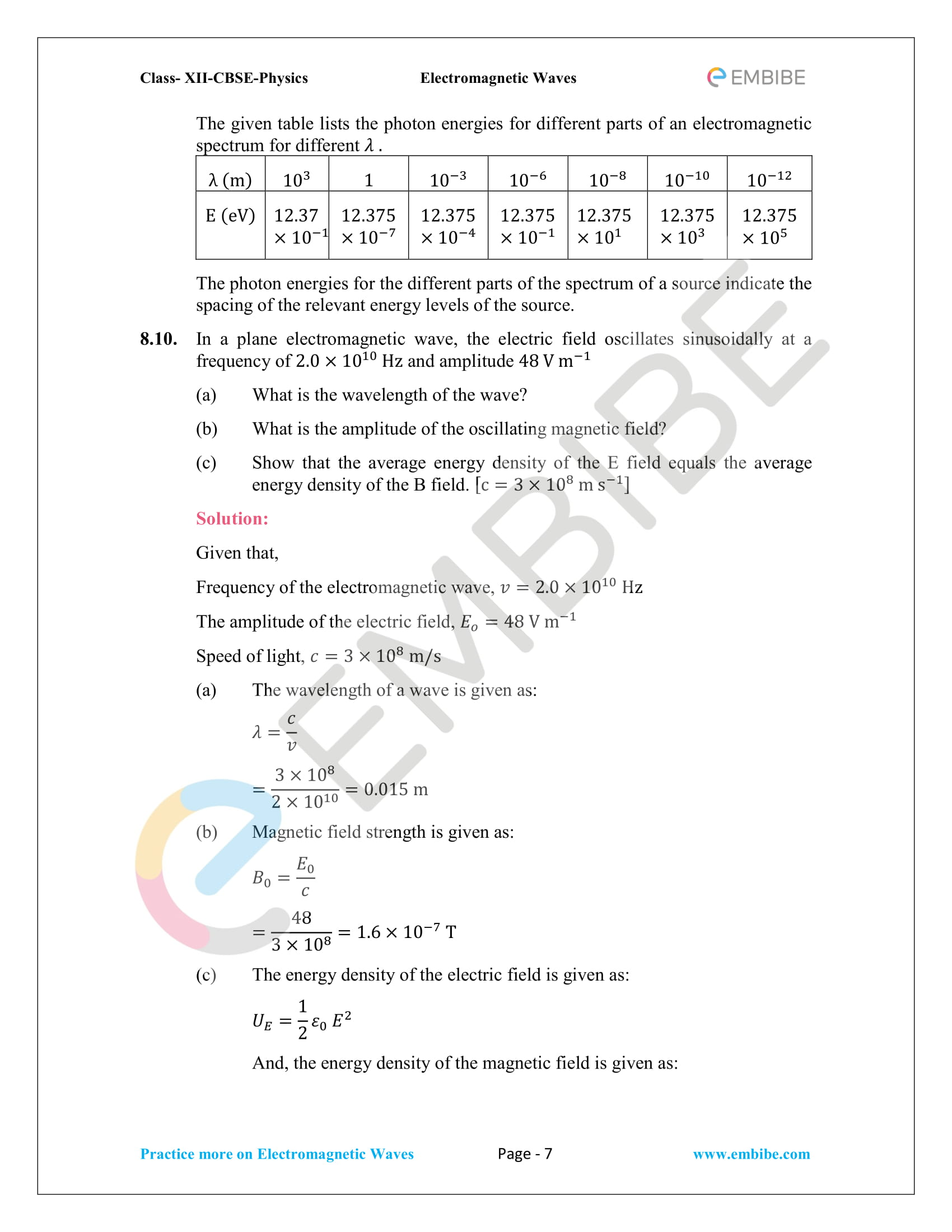NCERT Solutions for Class 12 Physics Chapter 8 Electromagnetic Waves-07