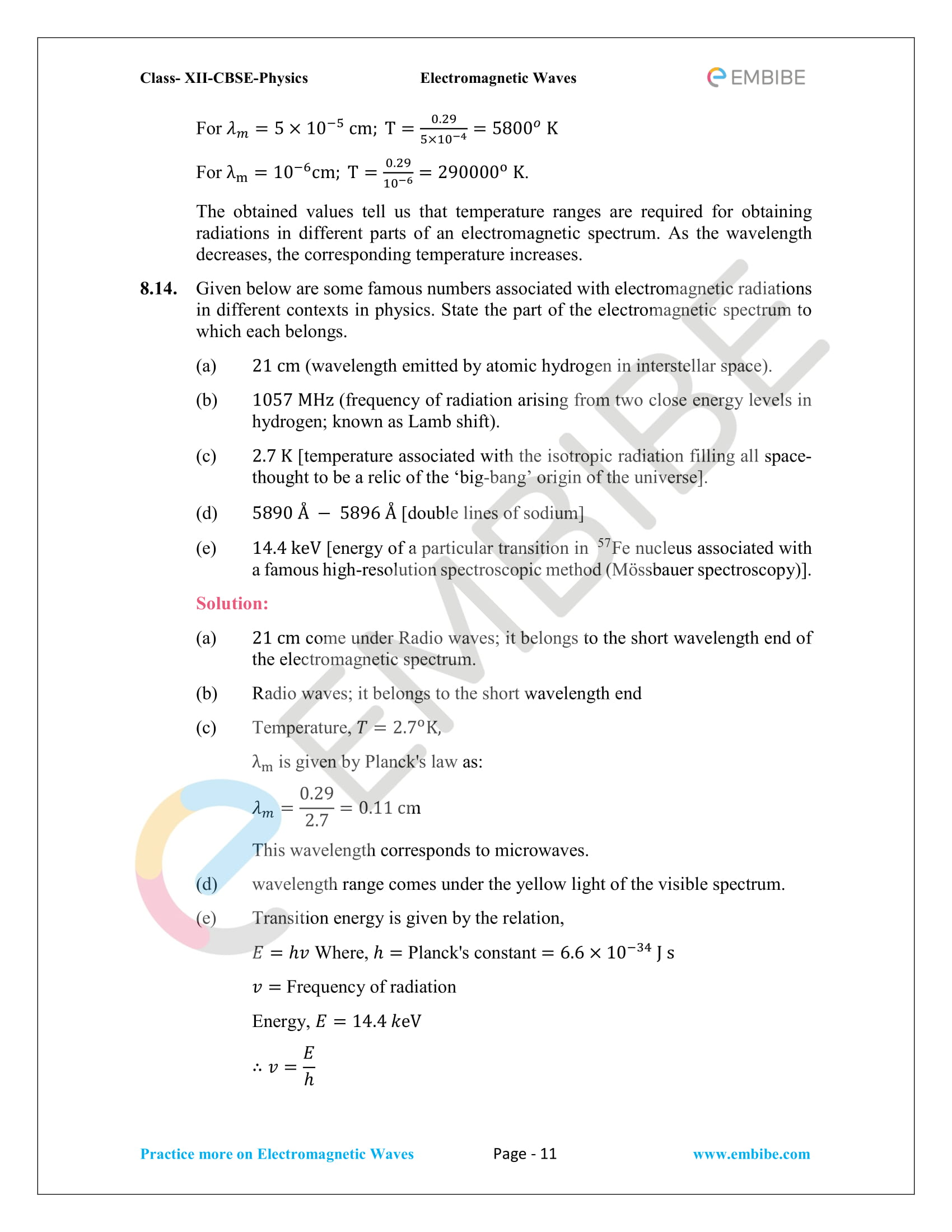 NCERT Solutions for Class 12 Physics Chapter 8 Electromagnetic Waves-11