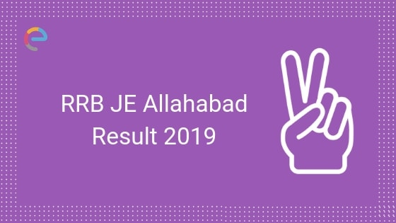RRB Allahabad JE Result