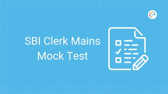 SBI Clerk Mock Test