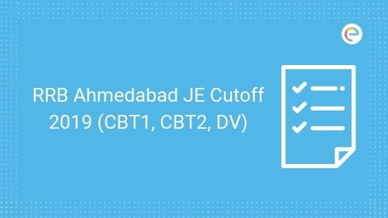 RRB Ahmedabad JE Cutoff