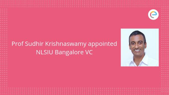 NLSIU Bangalore VC Prof Krishnaswamy