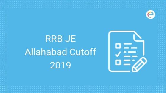 RRB Allahabad JE Cutoff