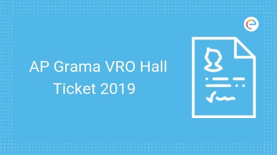 AP Grama VRO Hall Ticket