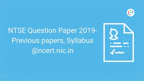 NTSE Question Papers