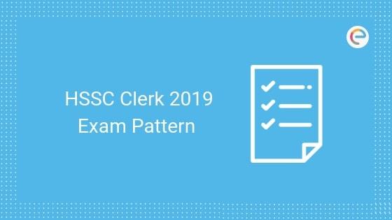 HSSC Clerk Exam Pattern