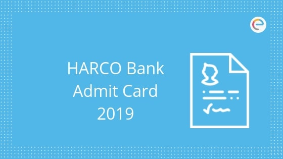 HARCO Bank Admit Card
