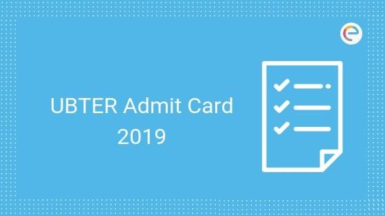 UBTER admit card embibe