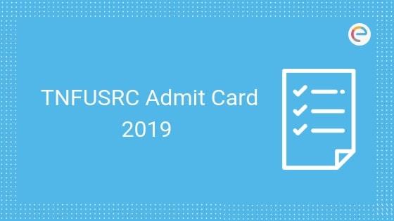 TNFUSRC Hall Ticket