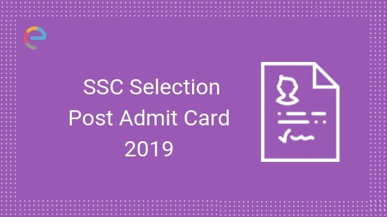 SSC Selection Post Admit Card