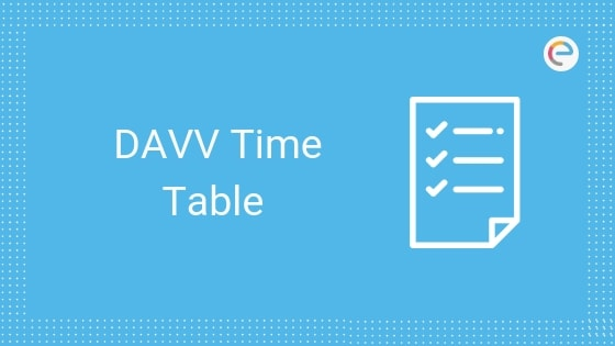 DAVV Time Table