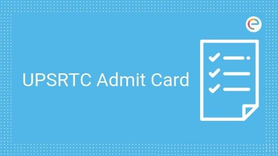 upsrtc admit card