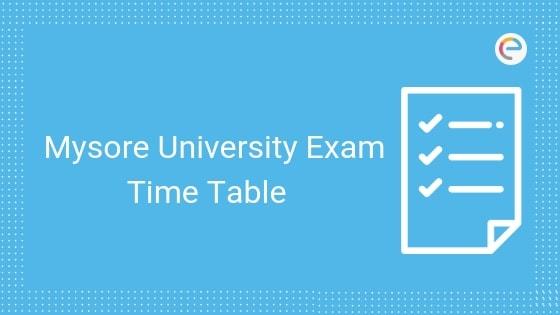 Mysore University Exam Time Table