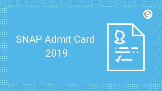 SNAP Admit Card 2019