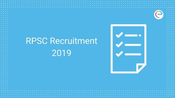 RPSC Recruitment 2019 embibe