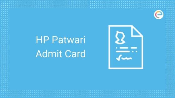 HP Patwari Admit Card 2019 embibe
